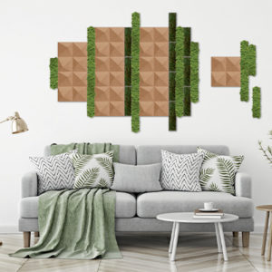Mur liège Alsapan Organic Moss